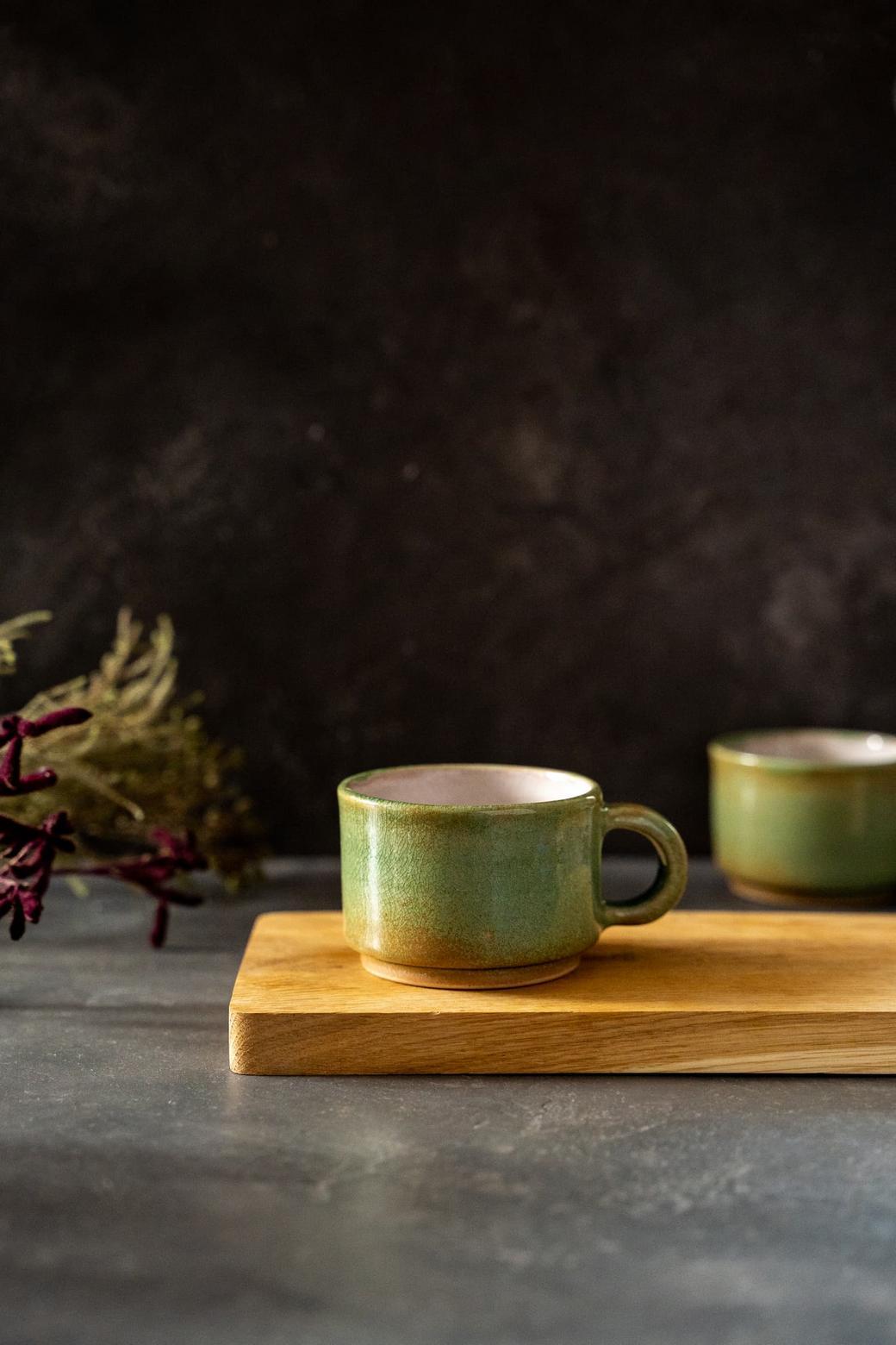 Кофейная керамическая кружка