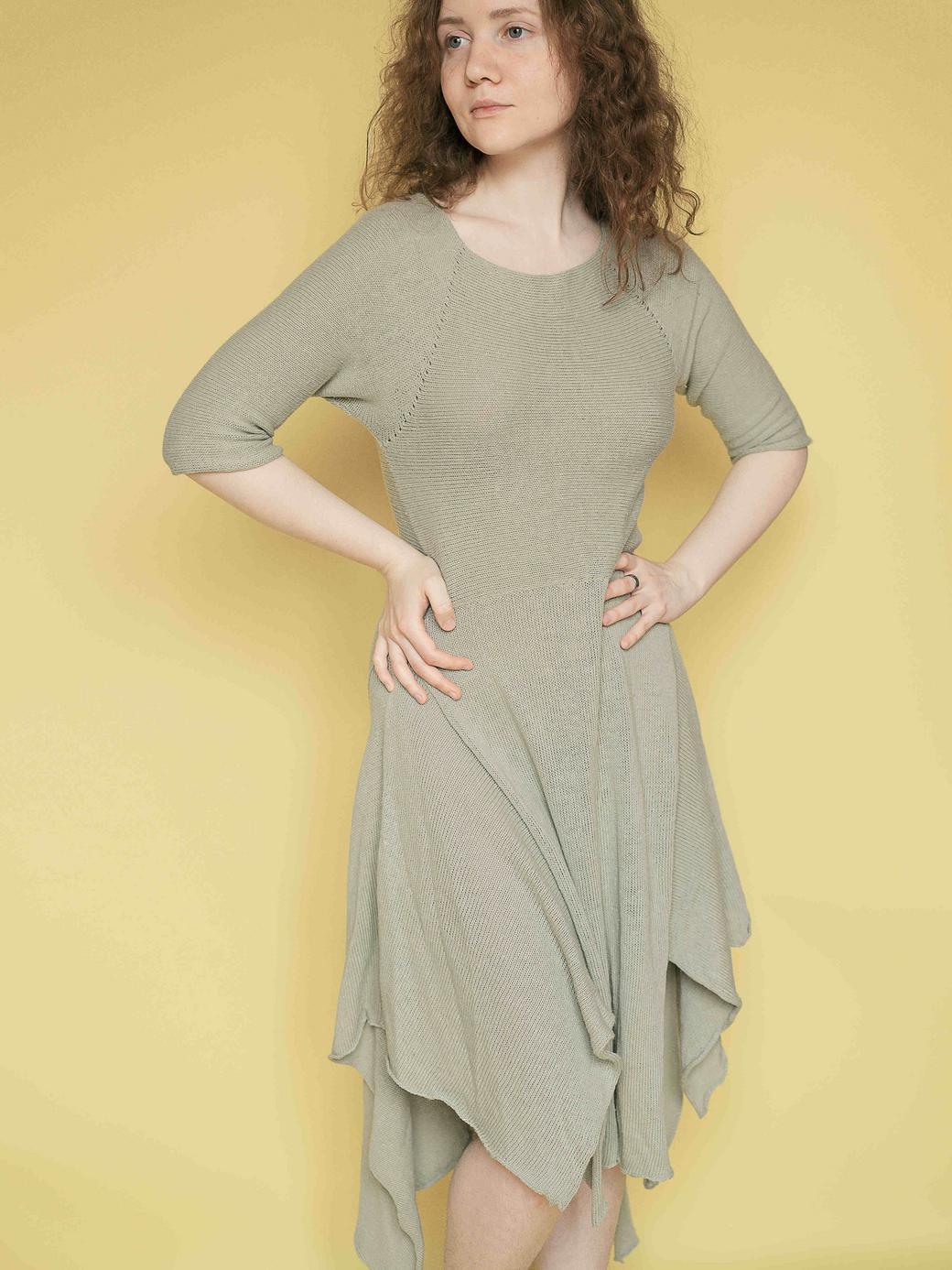 Вязаное платье в бохо-стиле