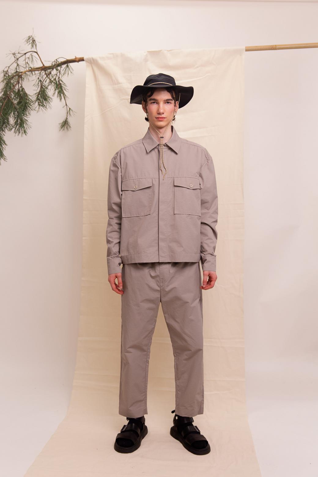 """Рубашка """"Safari"""" black\grey unisex"""
