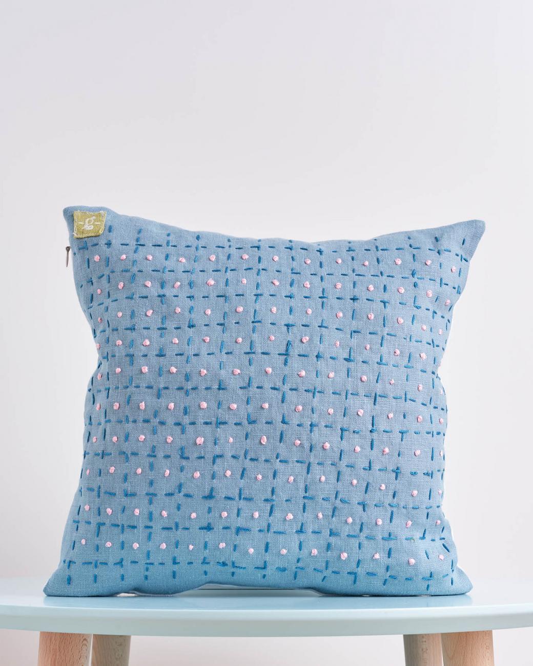 """Декоративная подушка """" blue bubble"""""""